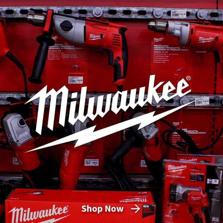 Milwaukee Power Tools with Logo at Gladieux Home Center