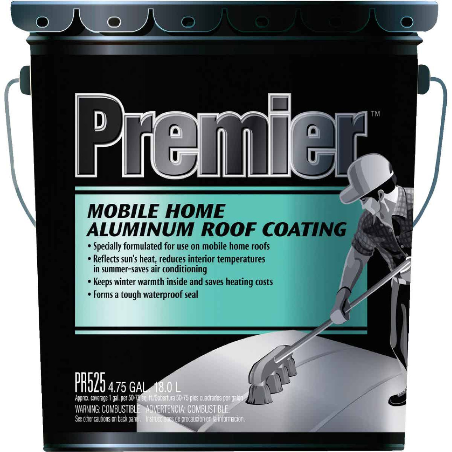 Premier 5 Gal. Mobile Home Aluminum Roof Coating Image 1