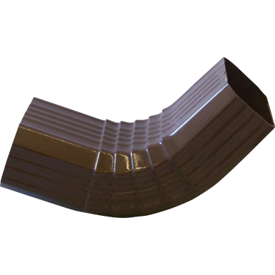 Repla K 2 x 3 In. Vinyl Brown Front Downspout Elbow