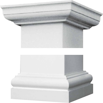 Crown Column Tuscan 8 In. Unfinished Plastic Cap/Base Set