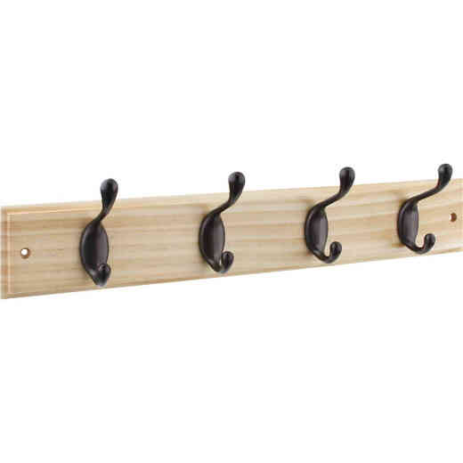 Stanley 18 In. Oil Rubbed Bronze/Natural Hook Rail