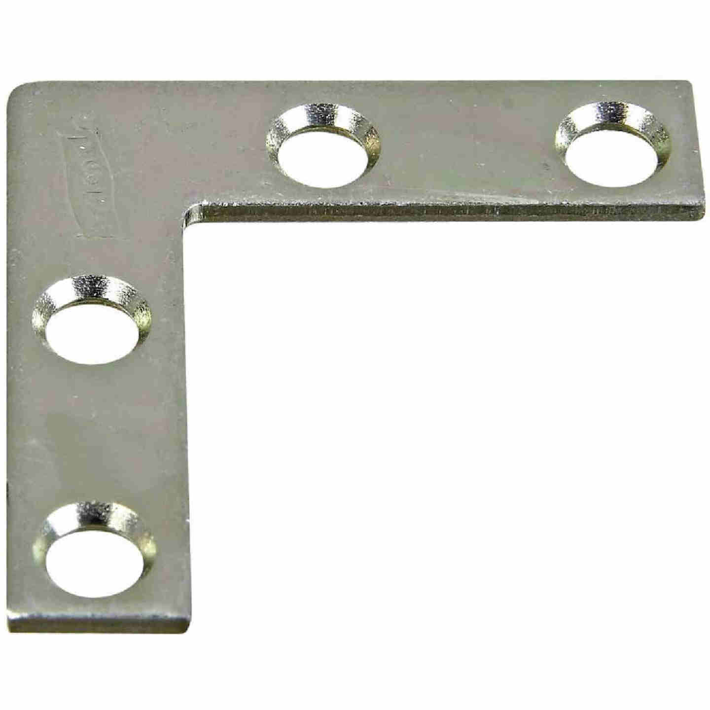 National Catalog 117 1-1/2 In. x 3/8 In. Zinc Flat Corner Iron Image 1