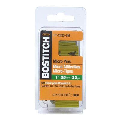Bostitch 23-Gauge Coated Pin Nail, 1 In. (3000 Ct.)