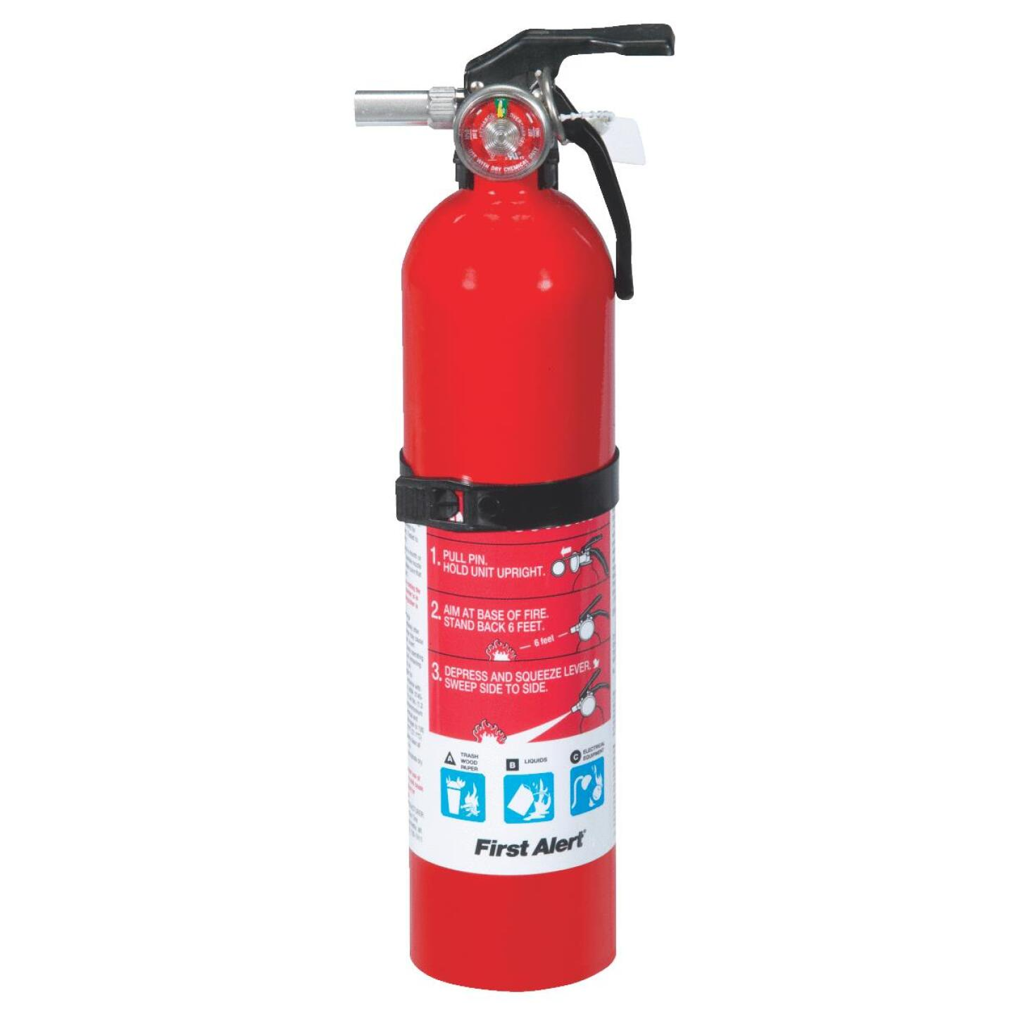 First Alert 1-A:10-B:C Rechargeable Home Fire Extinguisher Image 2
