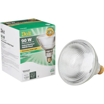 Do it 90W Equivalent Clear Medium Base PAR38 Halogen Floodlight Light Bulb