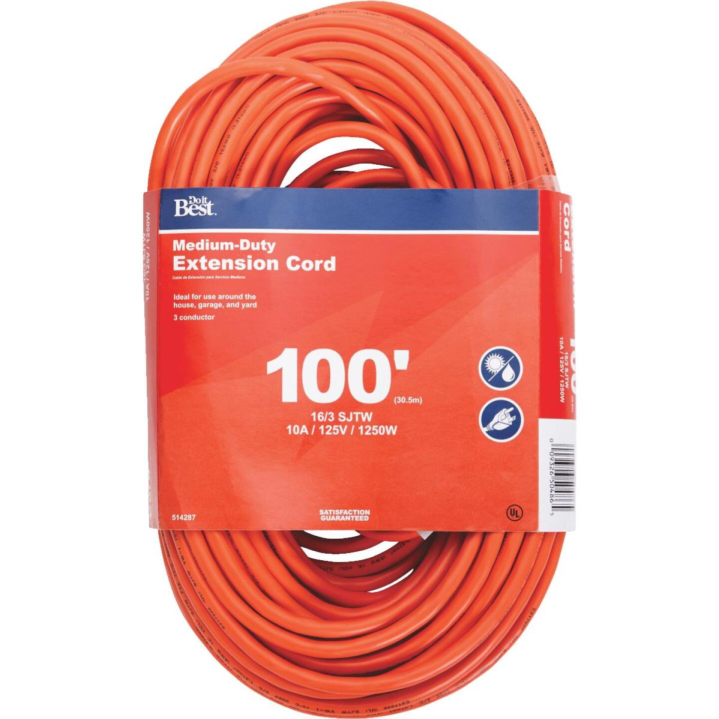 Do it Best 100 Ft. 16/3 Outdoor Extension Cord Image 1