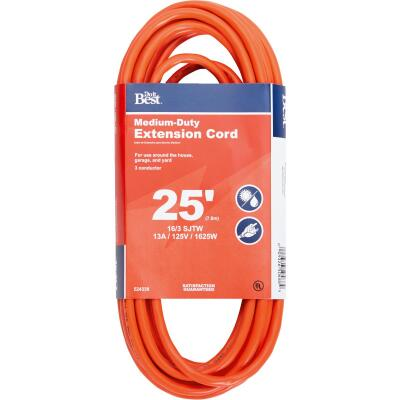 Do it Best 25 Ft. 16/3 Outdoor Extension Cord