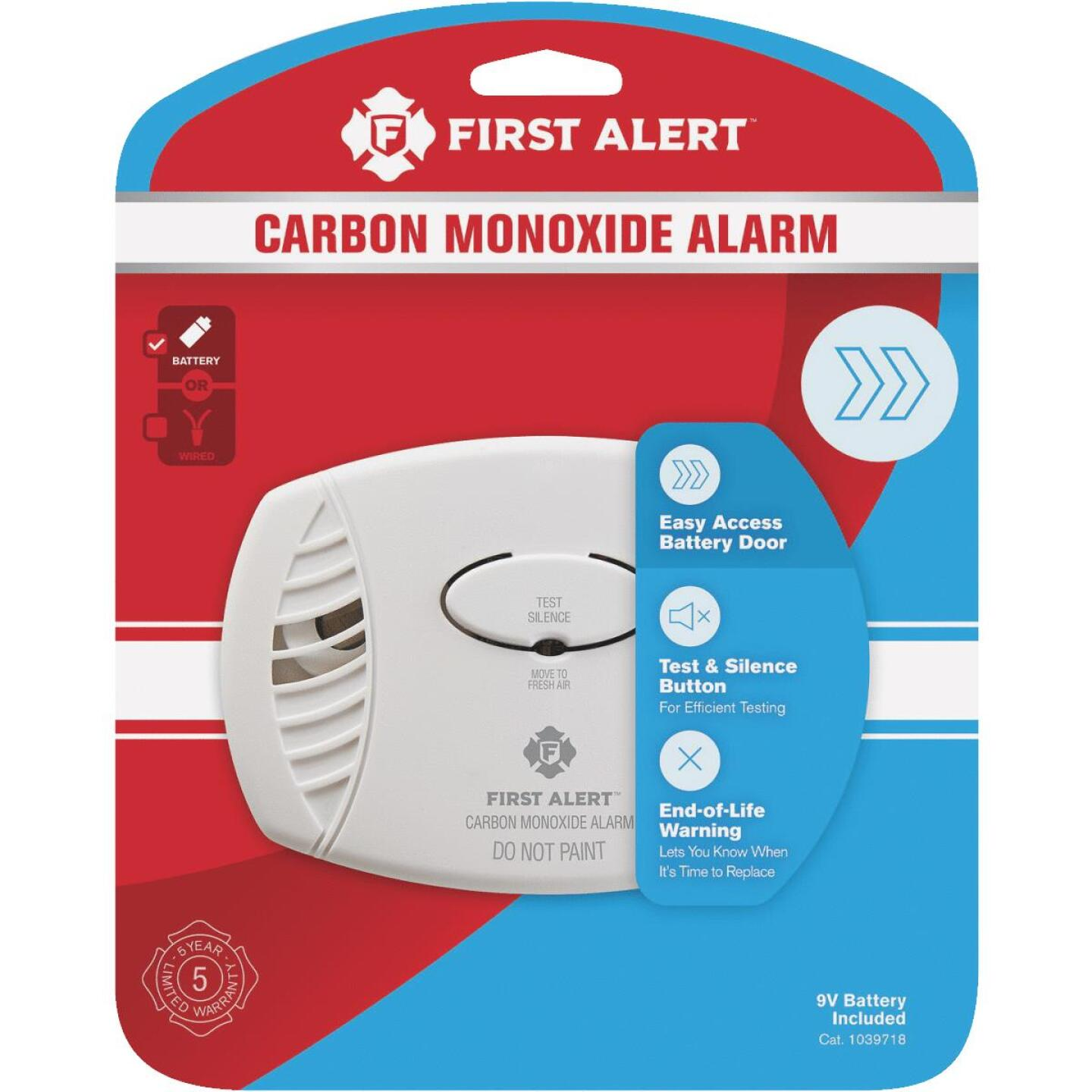 First Alert Battery Operated 9V Electrochemical Carbon Monoxide Alarm Image 3