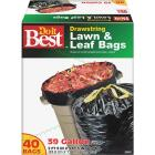 Do it Best 39 Gal. Black Drawstring Lawn & Leaf Bag (40-Count) Image 1