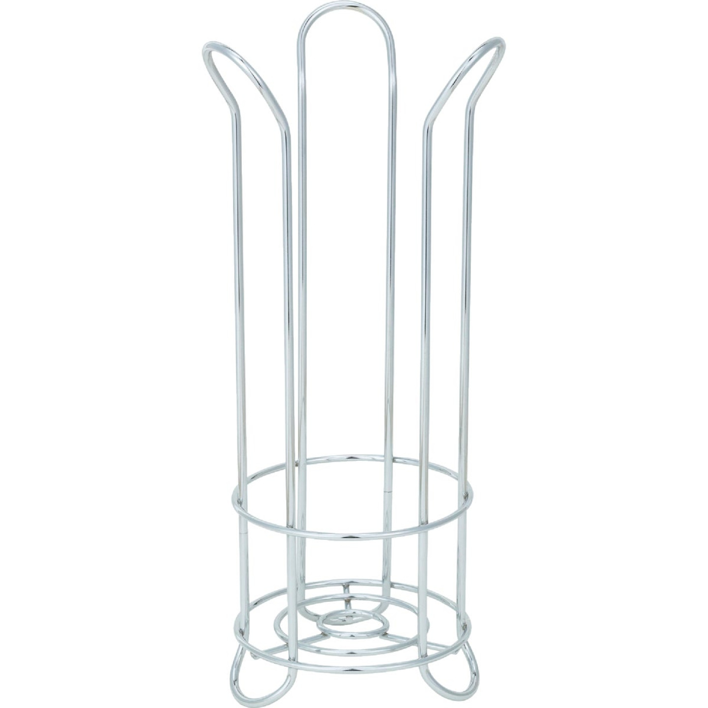 InterDesign Forma Chrome Tulip Freestanding Toilet Paper Holder Image 4