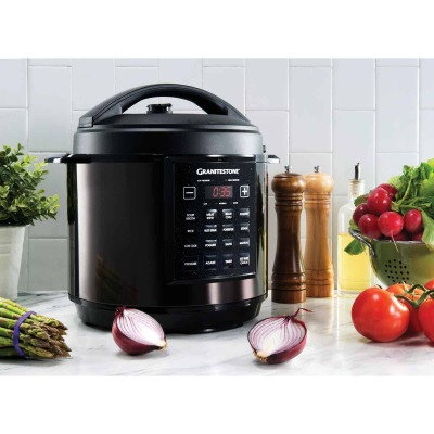 GraniteStone 6 Qt. 12-In-1 Black Multi- Cooker