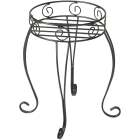 Best Garden Black Steel 21 In. H. Plant Stand Image 1
