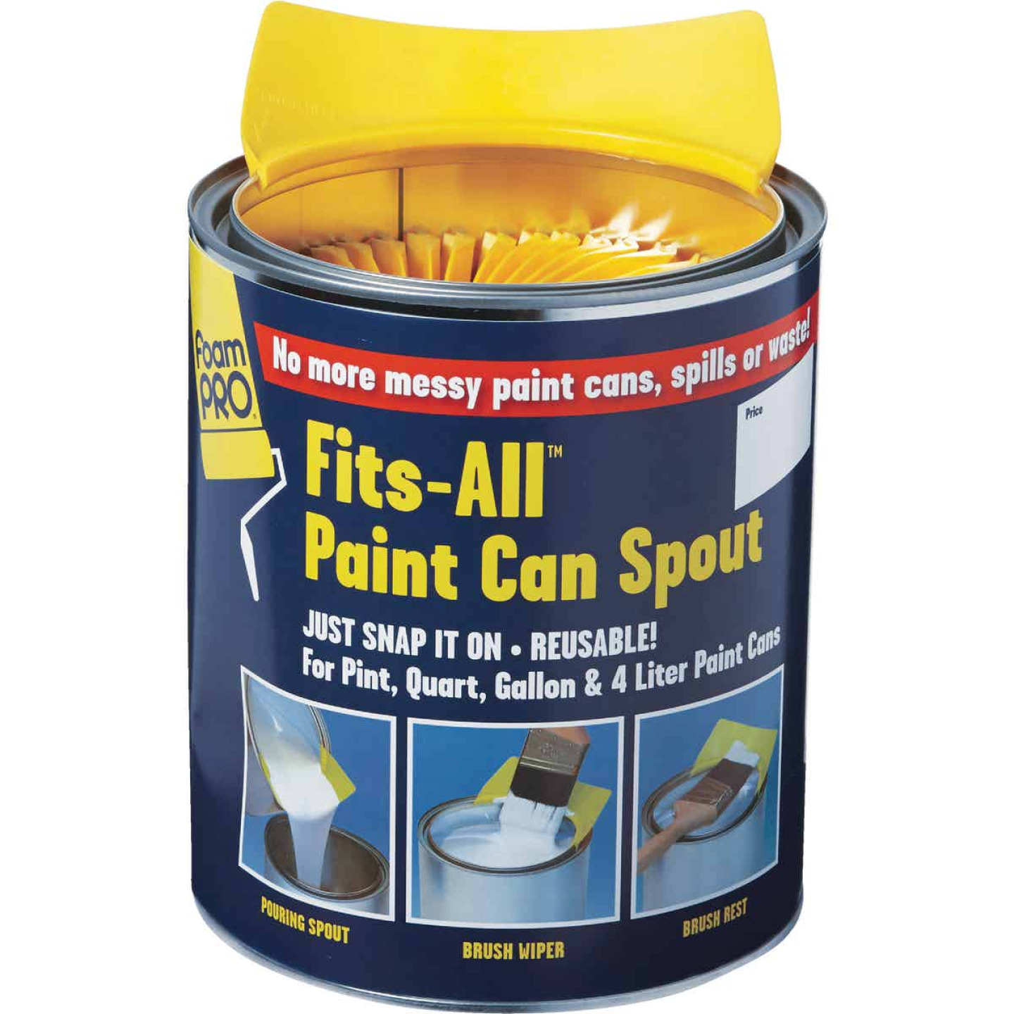FoamPro Fits-All Snap-On Paint Can Pourer Image 4