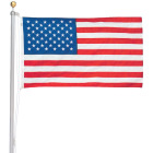Valley Forge 3 Ft. x 5 Ft. Nylon American Flag & 20 Ft. Pole Kit Image 1